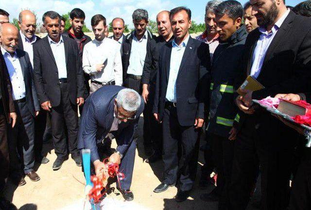 با حضور استاندار آذربایجان غربی احداث ایستگاه آتش نشانی شهر قوشچی آغاز شد
