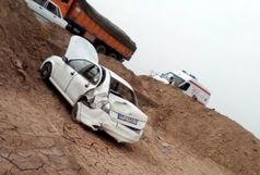 ۴ مصدوم در حادثه واژگونی خودرو ساینا