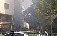 آتش سوزی در خیابان انقلاب تقاطع فردوسی/آتش سوزی مصدوم نداشت