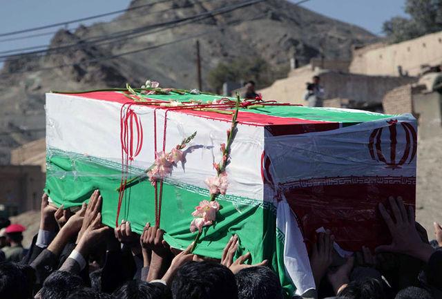 پیکر شهید مدافع وطن در زاهدان تشییع و خاکسپاری شد
