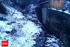 باران و برف در راه گیلان