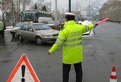 مسدود شدن ورودی شیراز به علت بارنگی و سیل