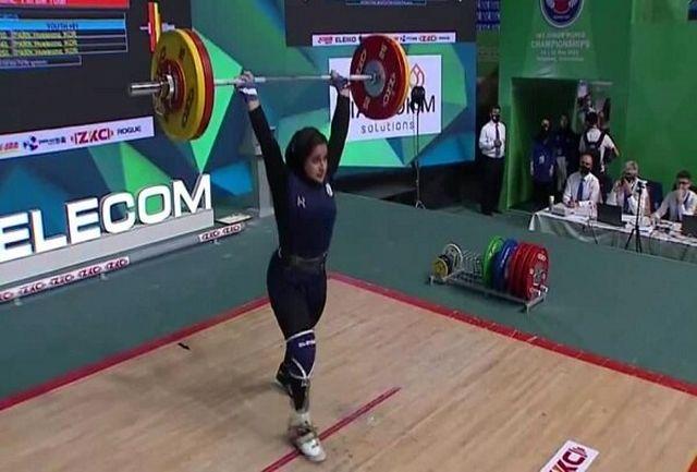 حضور یکتا جمالی، قهرمان وزنه برداری در «ورزش ایران»