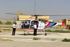 نجات جان مادر ۳۵ ساله با بالگرد اورژانس ۱۱۵