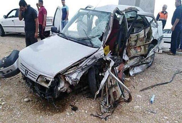 ۵ کشته و مصدوم در حادثه دلخراش واژگونی پژو ۴۰۵