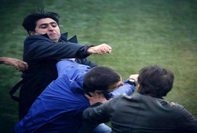 درگیری با داور چهارم در لیگ فوتبال گیلان