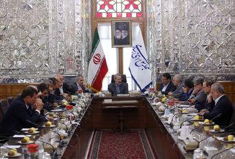 دیدار جمعی از وزرا با رییس مجلس شورای اسلامی