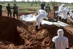 کشف گورجمعی در بوکمال سوریه/ ببینید
