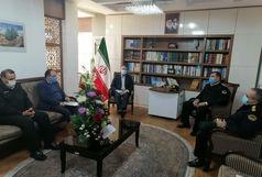 دیدار فرمانده نیروی انتظامی شهرستان با سرپرست فرمانداری ارومیه