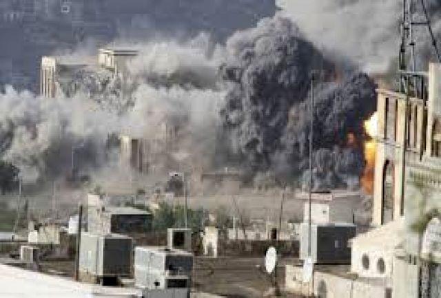 حملات گسترده ائتلاف متجاوز سعودی به یمن