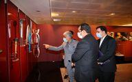 بازدید مدیرعامل سازمان ورزش شهرداری تهران از موزه ملی ورزش