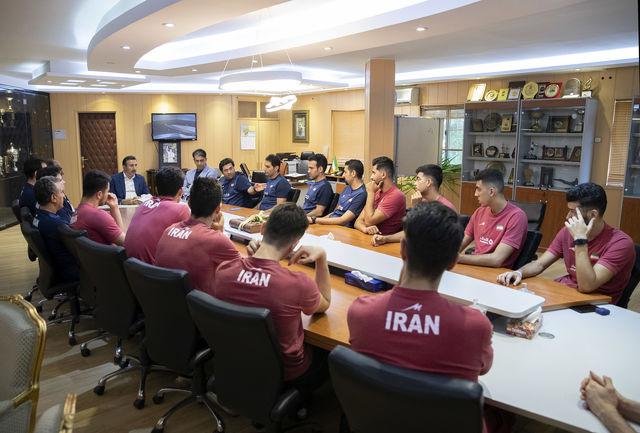 جوانان ایران مهمان سرپرست فدراسیون والیبال بودند