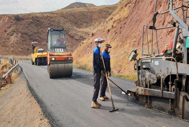روکش آسفالت مسیر قزوین به بهرام آباد آغاز شد