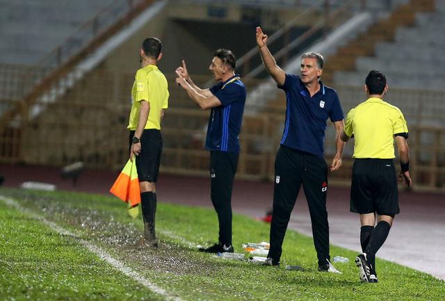کیروش: مسئولان AFC پاسخگو باشند/ شیوه بازی، بزن زیرش بود!