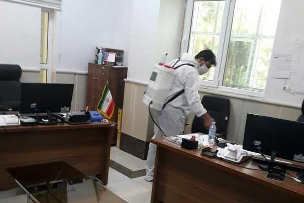 تداوم ضدعفونی اماکن دولتی و مراکز صنفی توسط سازمان آتش نشانی شهرداری قدس