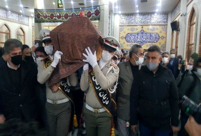 پیکر خسرو آواز ایران به مشهد آمد
