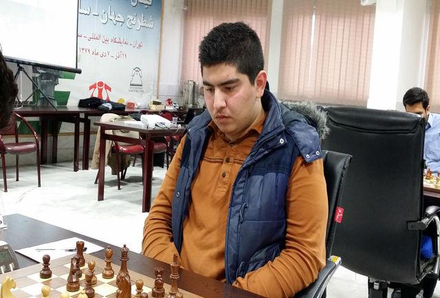 نماینده شطرنج ایران برابر شانس نخست قهرمانی شکست خورد