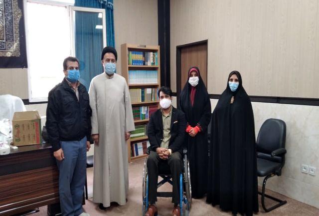 دیدار امام جمعه شهرستان ملارد با هنرمندان معلول