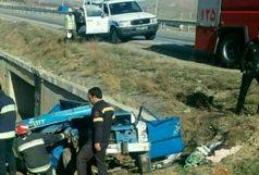 برخورد مرگبار نیسان و کامیون با 3 کشته و 5 مجروح