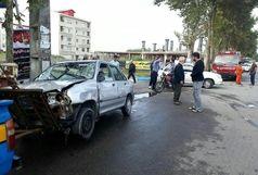 تصادف شدید یک خودرو پراید منجر به فوت پرسنل شهرداری بندرانزلی شد