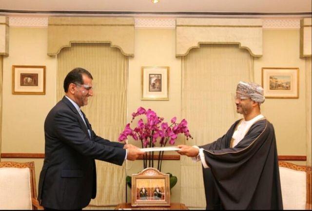 سفیر جدید ایران استوار نامه خود را تسلیم وزیر خارجه عمان کرد