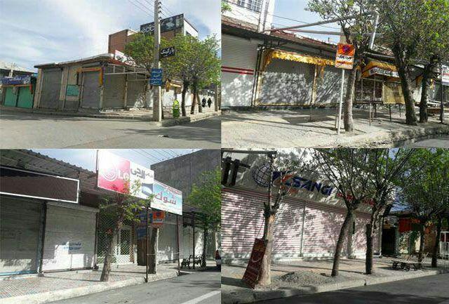 اعتصاب بازاریان پیرانشهر به علت بسته شدن مرز