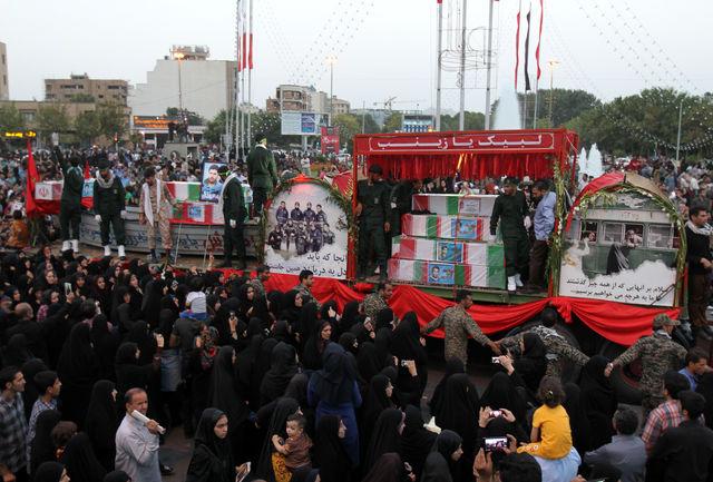 حضور حماسی مردم در تشییع شهدای گمنام روزی فراموش نشدنی در تاریخ استان رقم زد