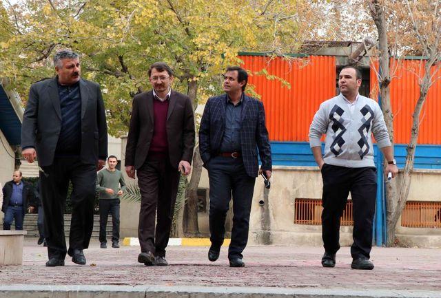 بازدید میدانی مدیران ستادی شرکت توسعه از مجموعه ورزشی شهید شیرودی