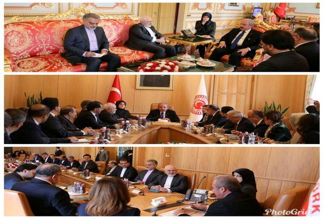ظریف با رییس مجلس ترکیه دیدار کرد
