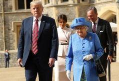 علت سنتشکنی دونالد ترامپ در دیدارش با ملکه انگلیس مشخص شد