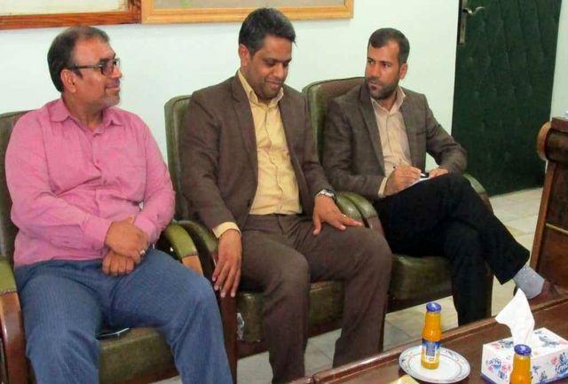 رئیس دانشگاه پیام نور ابوموسی با شهردار جزیره دیدار کرد