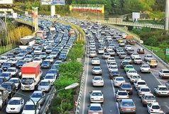 ترافیک نیمهسنگین در آزادراه قزوین_کرج_تهران