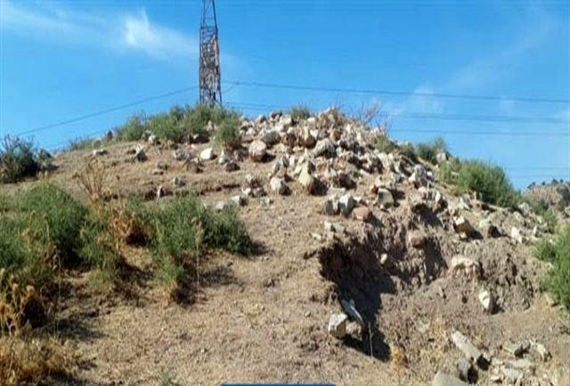 دستگیری عوامل تخریب تپه باستانی افرینه  پلدختر