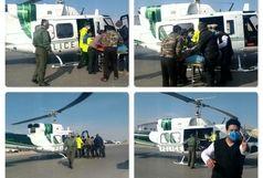 نجات جان 2 بیمار با استفاده از اورژانس هوایی
