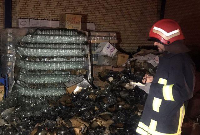 آتش سوزی کارخانه تولید شیشه در شهرک صنعتی