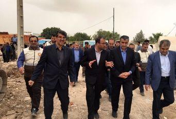 بازدید استاندار مازندران از مناطق زلزلهزده تحت پوشش ستاد معین استان در سرپلذهاب