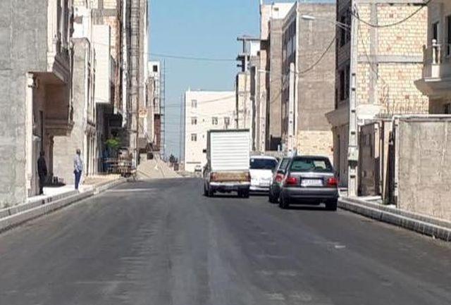 جدول گذاری و آسفالت شهرک محمودیه قرچک