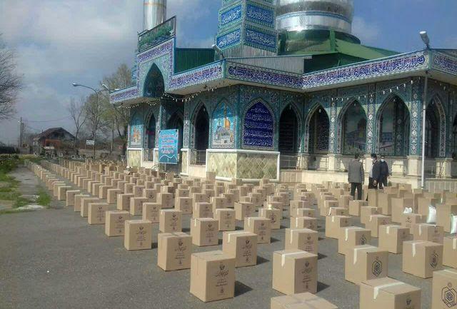 توزیع ۳ هزار بسته کمک معیشتی توسط اداره اوقاف رشت