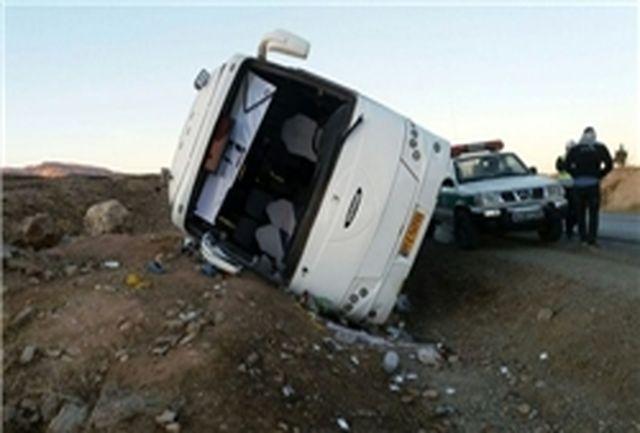 واژگونی اتوبوس در محور دشت ارژن – ابولحیات
