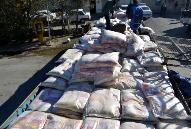 کشف محموله برنج میلیاردی در نائین