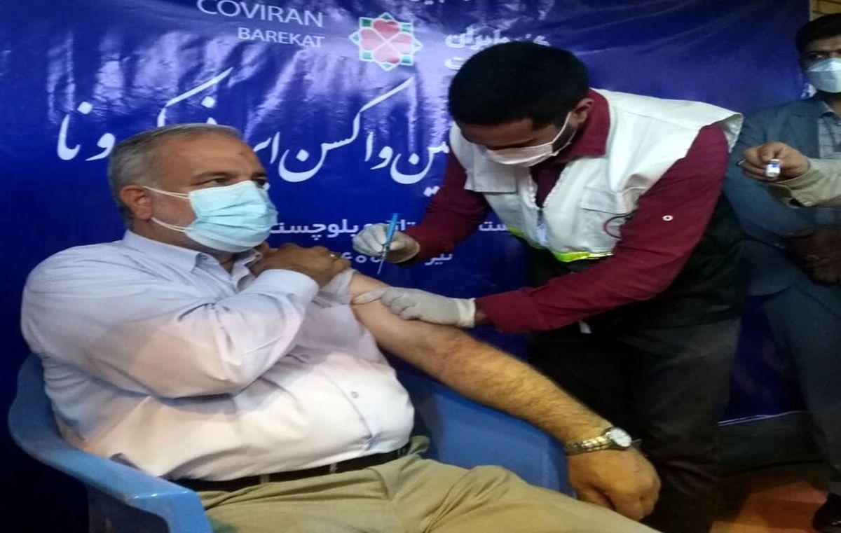 استاندار سیستان و بلوچستان واکسن برکت زد