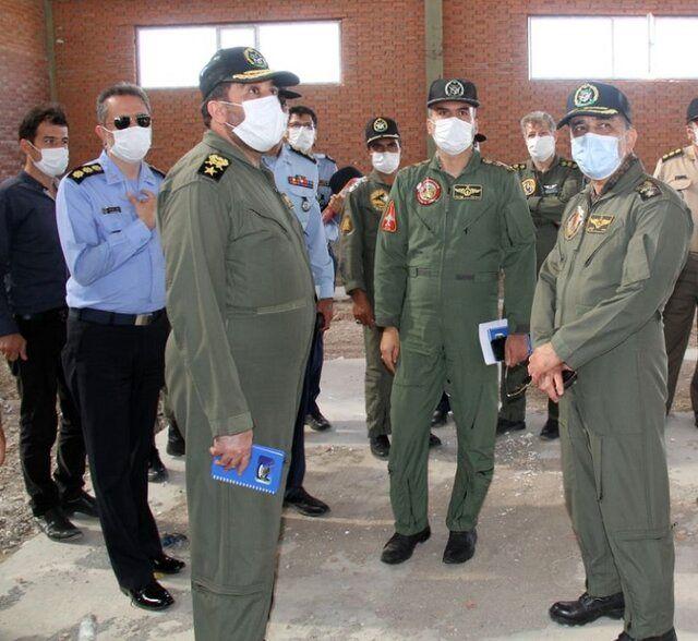 بازدید تیم بازرسی ستاد کل نیروهای مسلح از پایگاه هوایی شهید حسینی