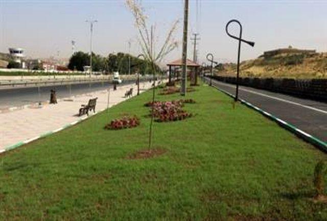 احداث 31 هزار مترمربع فضای سبز در سنندج