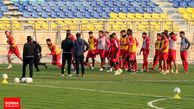 تمرین 50 دقیقهای سرخپوشان در ورزشگاه شهید کاظمی