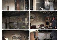 آتش سوزی درخیابان ملت رشت/ نجات پنج شهروند از حادثه