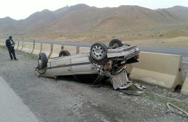 کشته شدن ۲ نوجوان بر اثر واژگونی خودرو پژو