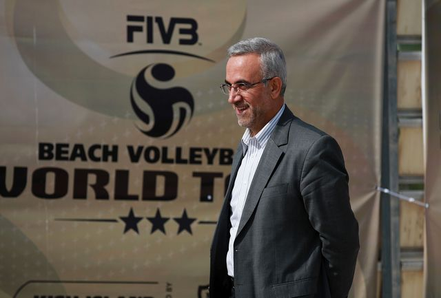 رئیس فدراسیون والیبال در کیش