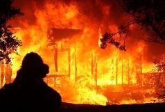 آتش سوزی در حوالی دانشگاه تهران