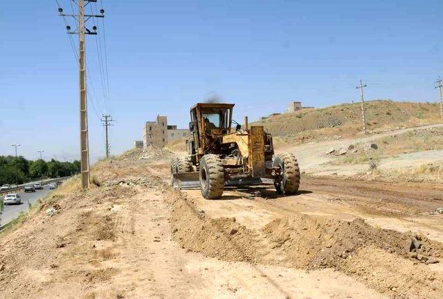 آغاز عملیات احداث خیابان 16 متری جهت اتصال شهرک شهرداری به بلوار ساحلی در سنندج