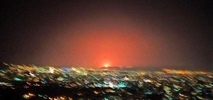 انفجار بزرگ در شرق تهران/ آسمان نارنجی شد